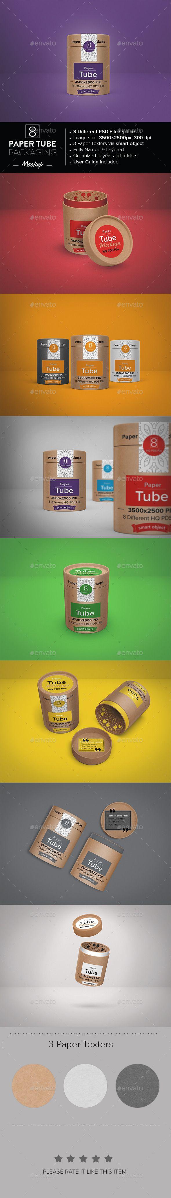 Paper Tube Packaging Mockup | Download…