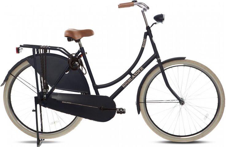 "Highlander - Bicicleta holandesa 28"" negra mate"
