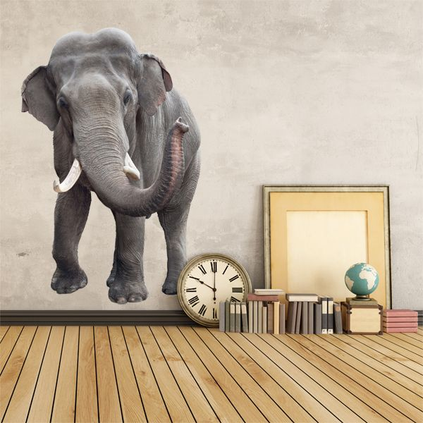 Vinilos Decorativos: Elefante asiático #elefante #animales #vinilodecorativo #decoracion #TeleAdhesivo