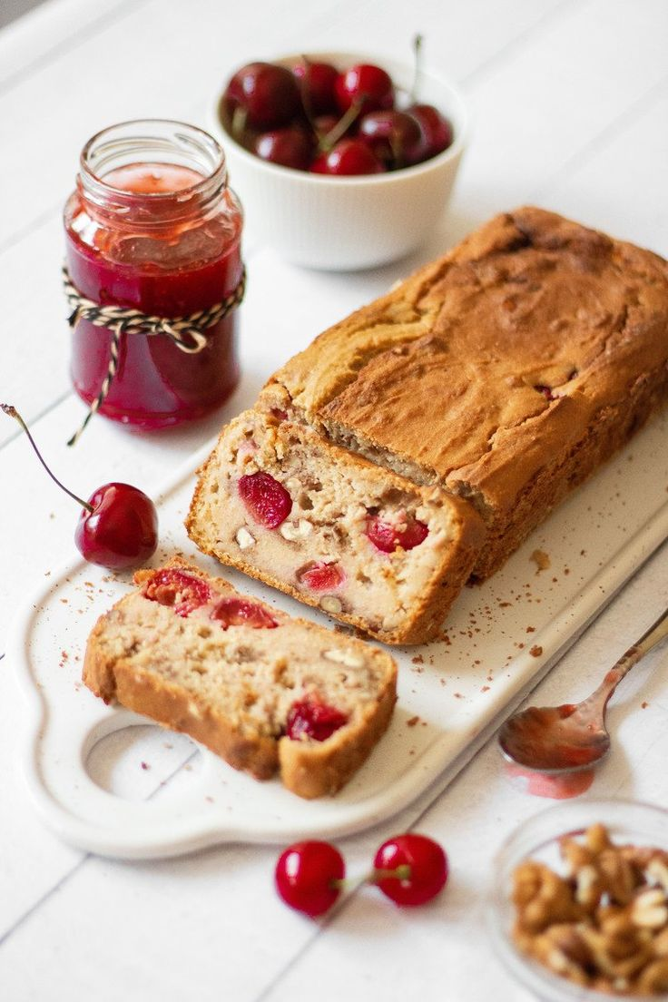 Vegan Protein Bread with Cherries and Walnuts