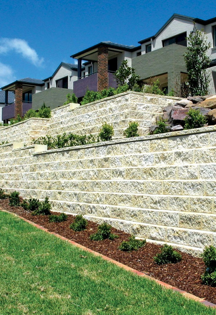 Allan block retaining wall by nitterhouse allan block for Adelaide innovative landscaping