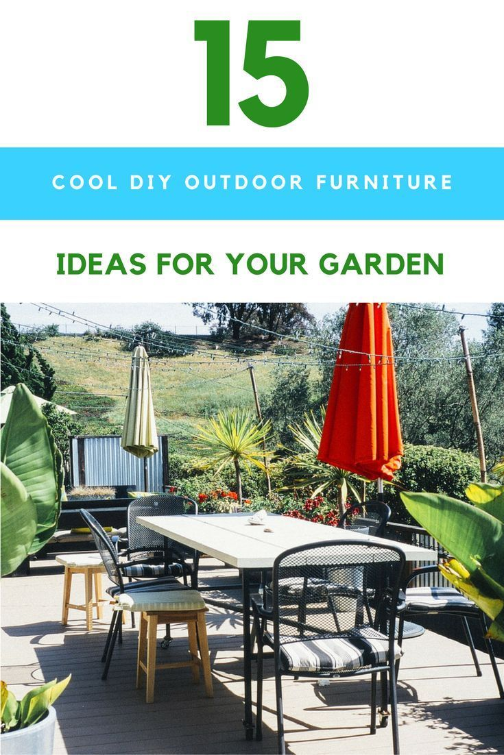 15 insanely cool diy outdoor furniture ideas for your backyard rh pinterest com