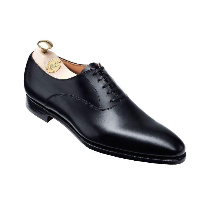 Wembley Black Calf, Men's Oxford Shoe | Crockett & Jones