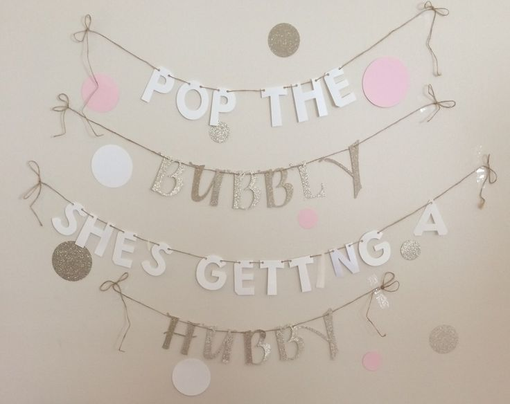 Pop The Bubbly She's Getting A Hubby Banner. Pop the Bubbly Banner. Bridal Shower Banner. Bachelorette Party Banner. by RoyalTreatmentDecor on Etsy https://www.etsy.com/listing/249885565/pop-the-bubbly-shes-getting-a-hubby