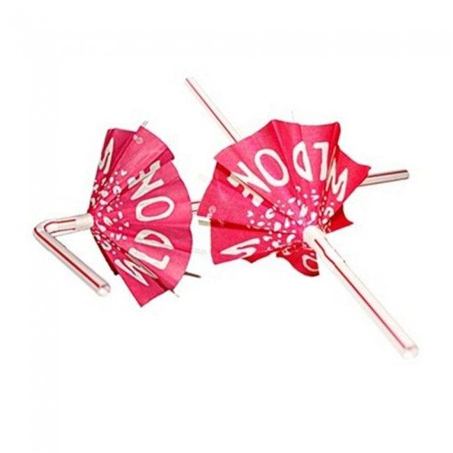 Bride to Be Wild One Umbrella Hens Night Bachelorette Party Straws