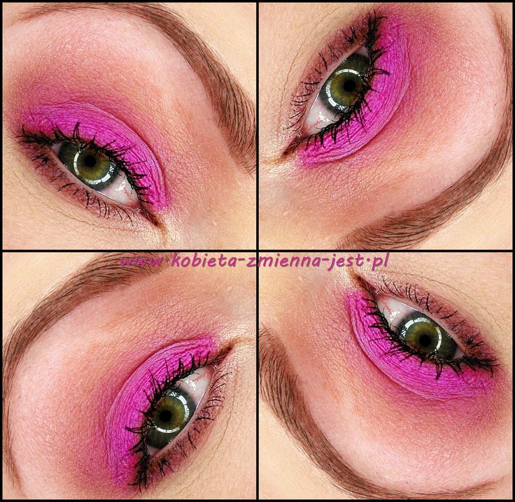makijaż makeup makeupblogger blog magenta hot pink technic electric beauty bright makeup magenta eyes