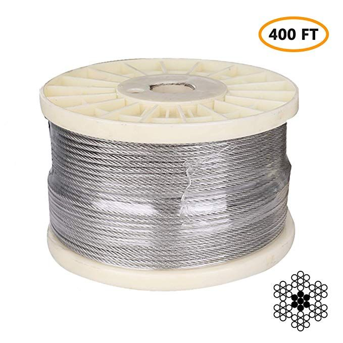 1 8 Stainless Steel Aircraft Cable Marine Grade T316 Stainless Steel Wire Rope Steel Cable For Deck Raili Deck Railings Diy Stair Railing Cable Railing Deck