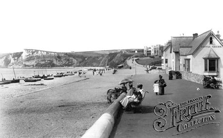 Seaton, the Beach and Promenade 1898 - Francis Frith collection