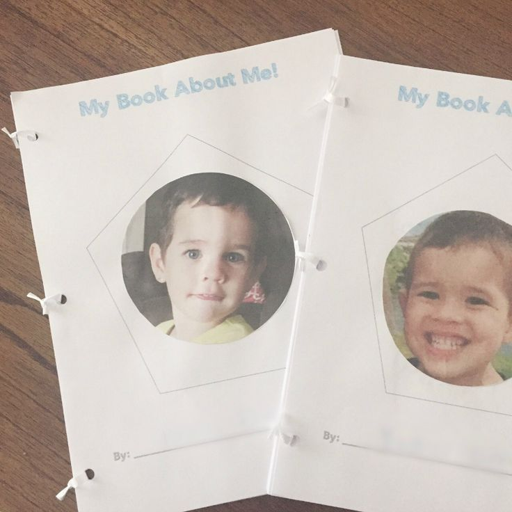 All About Me printable preschool booklet