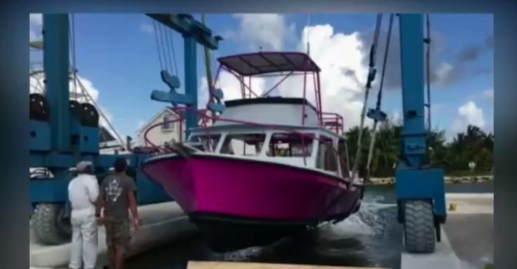 Dive boat turns heads with pink paint job
