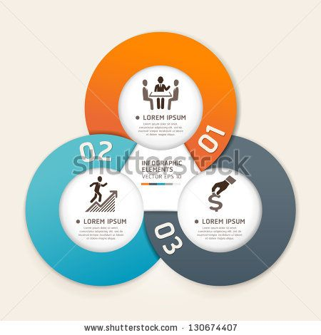 Modern business circle origami style options banner. Vector illustration. can be used for workflow layout, diagram, number options, step up options, web design, infographics. - stock vector