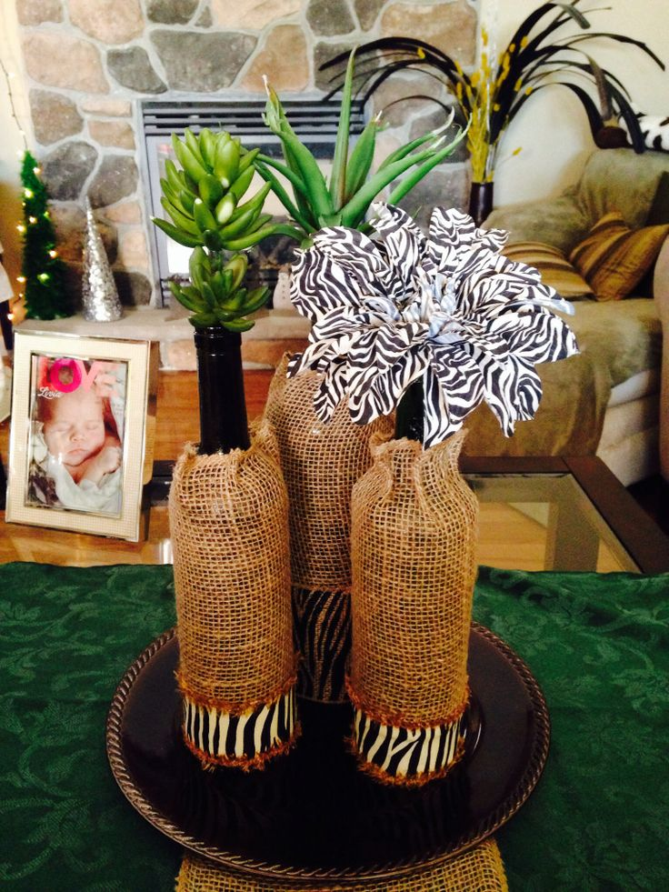 Safari inspired for work centerpiece My projects