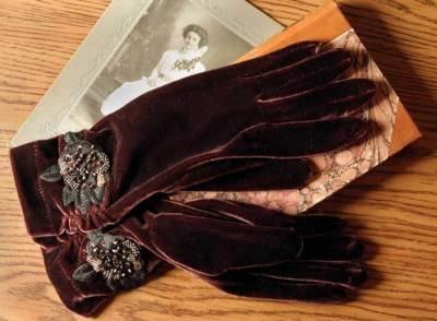 Cocoa riche velvet gloves
