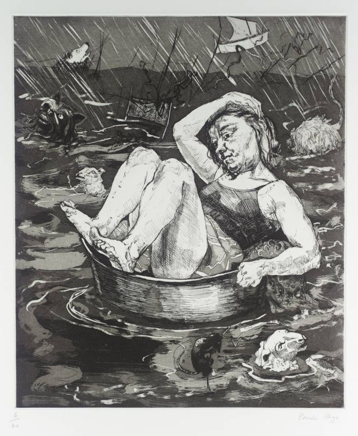 Paula Rego (born 1935) Flood, 1996 Medium Etching and aquatint on paper 395 x 335 mm Collection Tate
