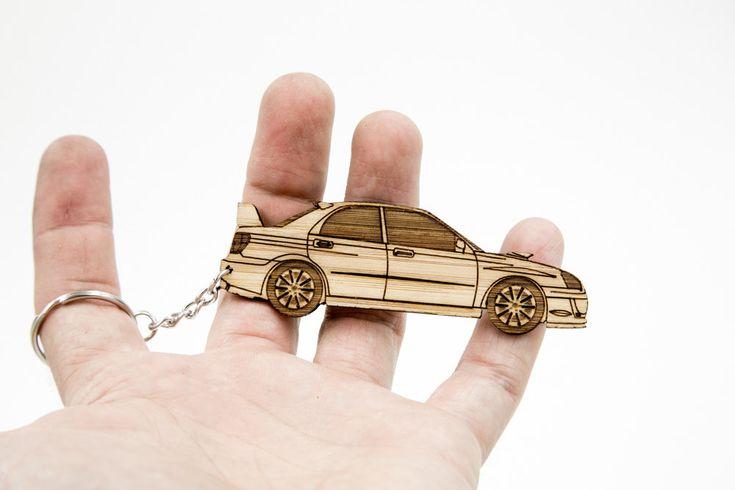 2005 Subaru STi Bamboo Keychain by BamShifts on Etsy