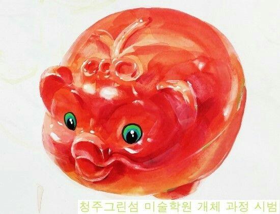 돼지저금통 기디 개체묘사
