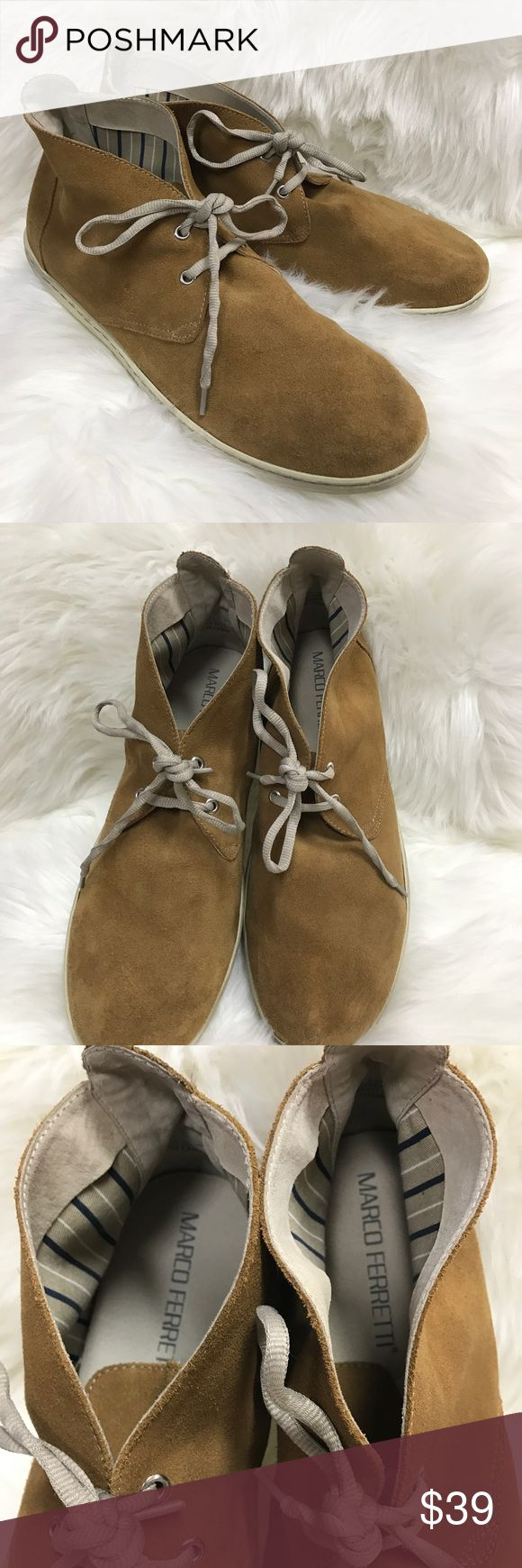 Marco Ferretti Brown Suede Chukka Ankle Boot This brown, lace suede ankle boots is in very good pre-owned condition. Please refer to pictures for better descriptions. Marco Ferretti Shoes Chukka Boots