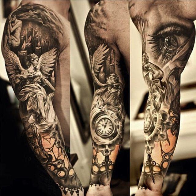 beautiful black and grey tattoos - Google Search