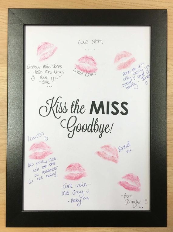 Hen Party Accessories from the Fancy Pants Store.  Our kiss the miss goodbye frame makes the perfect alternative guest book for a Hen Night. Get your guests to choose a lipstick and leave their kiss mark with a little message. The price includes the Card, The Black Frame and 2 assorted Lipsticks. It is A4 in size.  Makes a lovely gift for the Bride to Be that she will treasure for years to come.