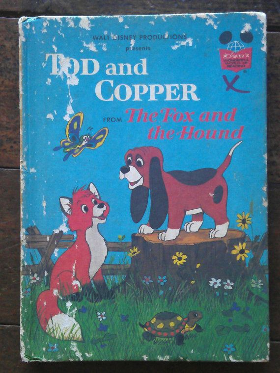 Tod and Copper from The Fox and the Hound by avintagesparrowsnest, $5.00