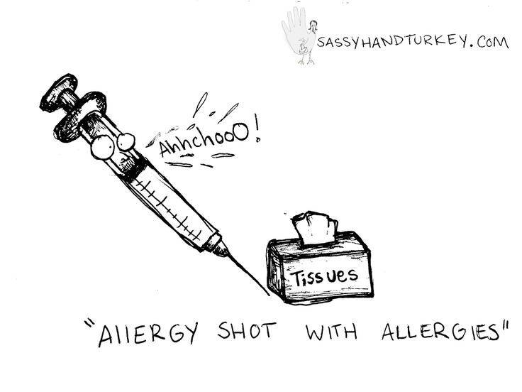 Allergy Shot With AllergiesSassy Doodles, Allergies Shots