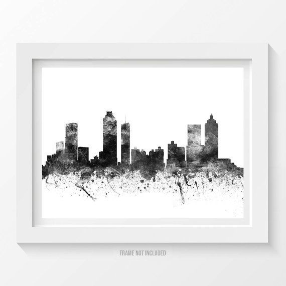 Atlanta Poster Atlanta Skyline Atlanta Cityscape by Agedpixel