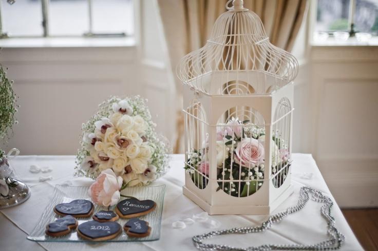vintage cream birdcage