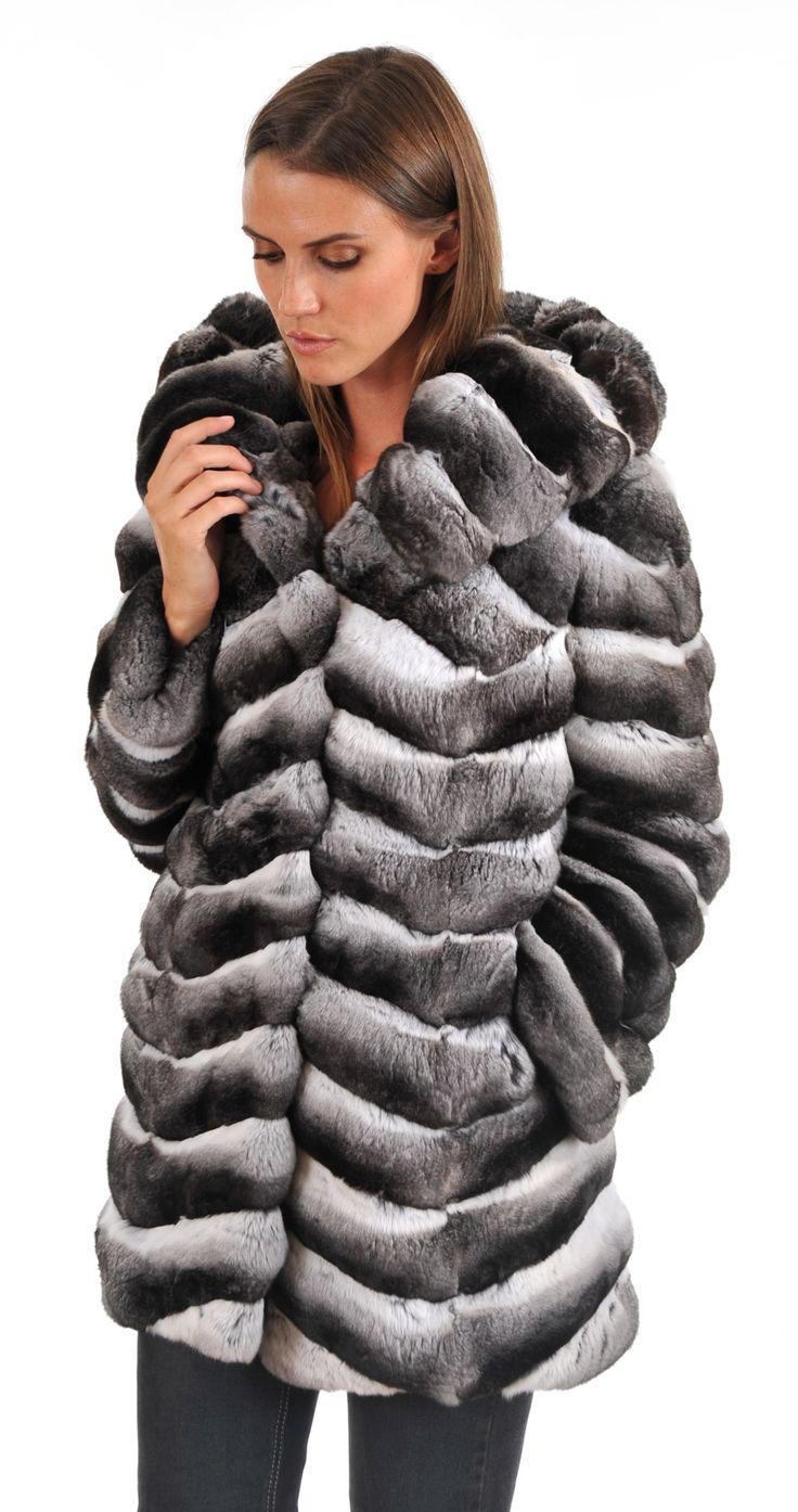 veste en fourrure de chinchilla coat chinchilla fur