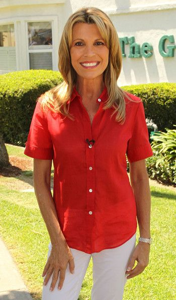 "Vanna White Vanna White, co-host of the ""Wheel of Fortune"" television show, visits The Gary Center on August 15, 2011 in La Habra, Californi..."