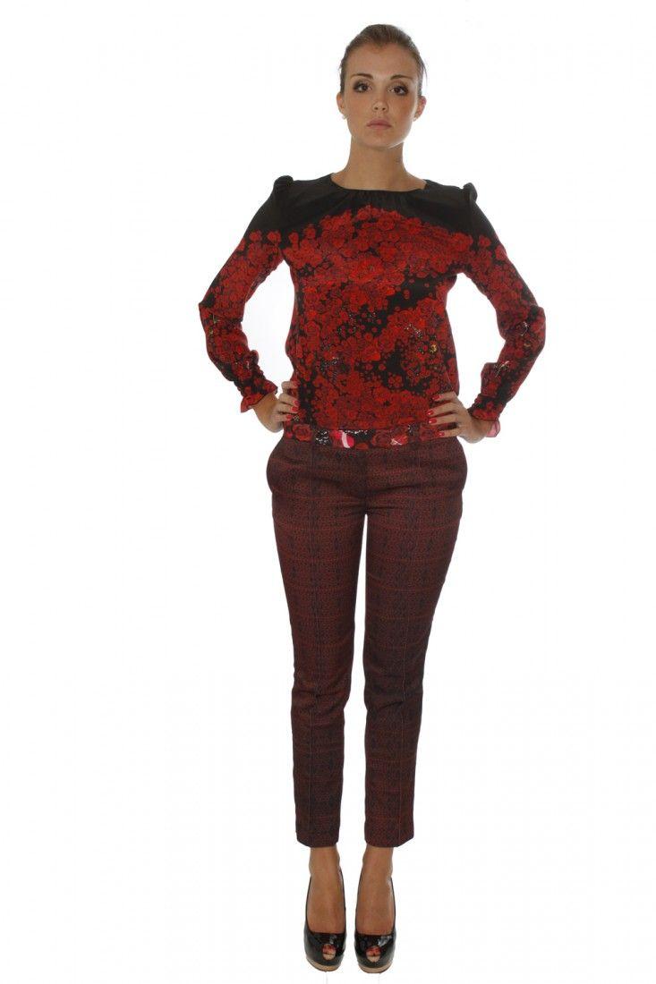 PICCIONE.PICCIONE- www.assuntasimeone.com  PANTALONE IN CREPE ROSSO E NERO PICCIONE.PICCIONE  spedizione gratuita assicurazione gratuita reso gratuito  CLICCA SUL LINK PER ACQUISTARE IL PRODOTTO: http://www.assuntasimeone.com/it/shop/nuove-collezioni-inverno-pantaloni/2572/pantalone-in-crepe-rosso-e-nero-piccione.piccione.html