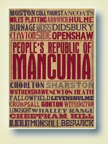 Manchester Typography Art Print