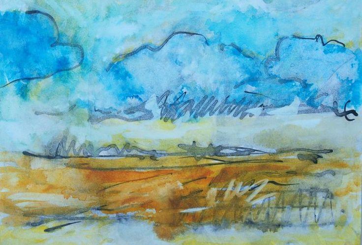 Wszelkie prawa zastrzeżone Painting,  21x30 cm ©2014 przez ANNA  BARDZKA -  Malarstwo, Atrament
