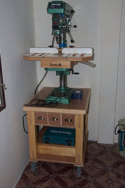 Diy Drill Press Stand Plans Woodworking Projects Amp Plans