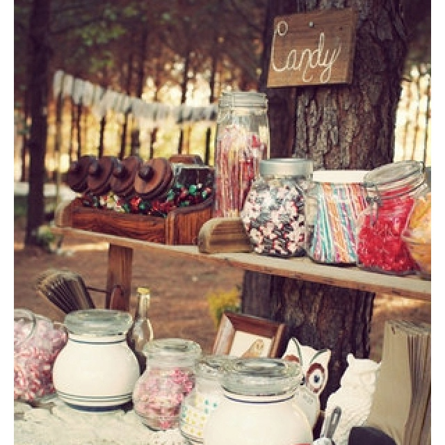 Rustic Wedding Candy Table Ideas: Best 25+ Rustic Candy Buffet Ideas On Pinterest