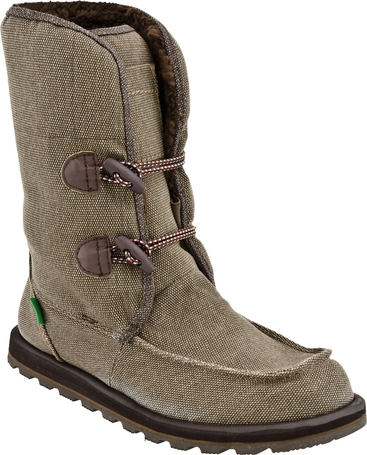 WHAT?!?! Sanuk makes boots?!?! Adios, UGGs, you have been replaced! Sanuk Flurry Women's Calf Boot