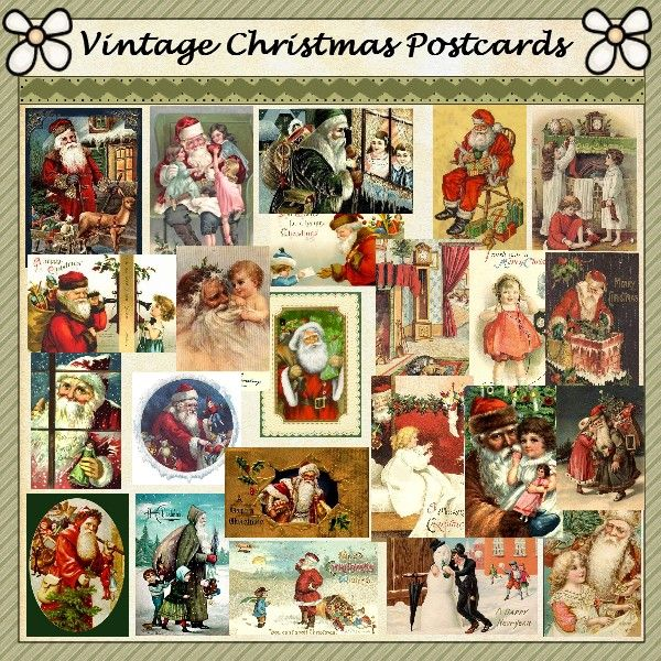 Vinvintagechristmas | vintage christmas postcards two csd vintage christmas postcards ...