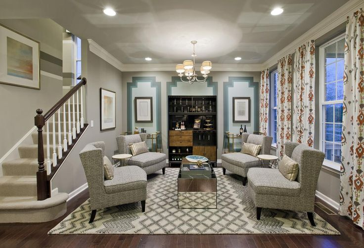 Great guests in this formal family room, from the Bowes Creek Country Club, Fairways Collection, in Illinois.
