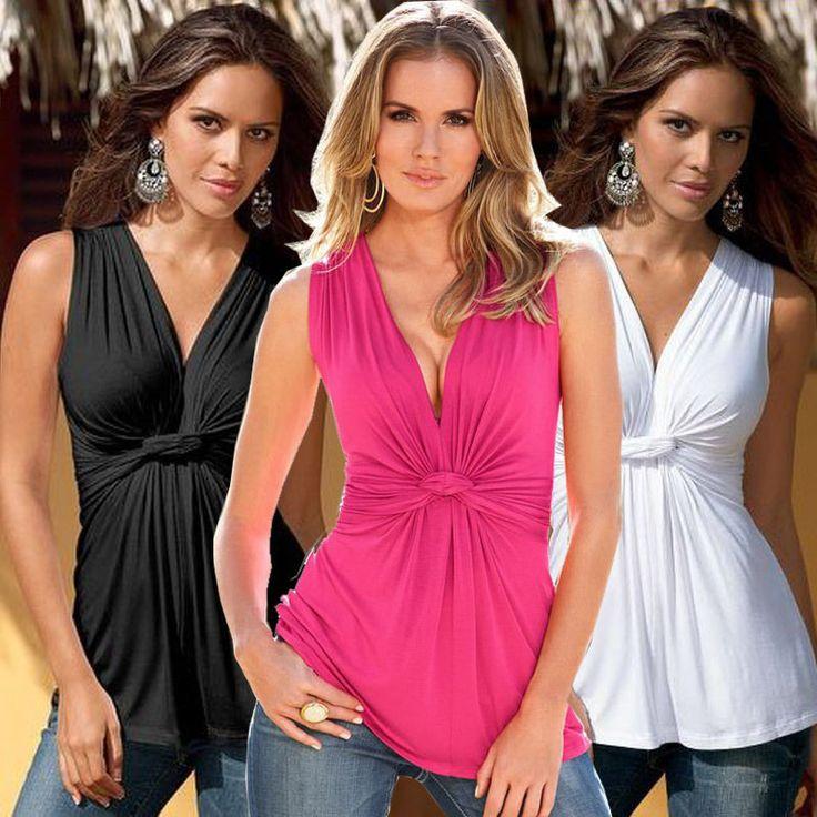 Womens Summer Vest Top Sleeveless Shirt Blouse Casual Tank Tops T-Shirt Wx