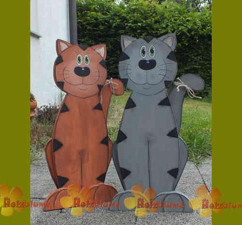 stehende Katze aus Holz - Die Holzblume
