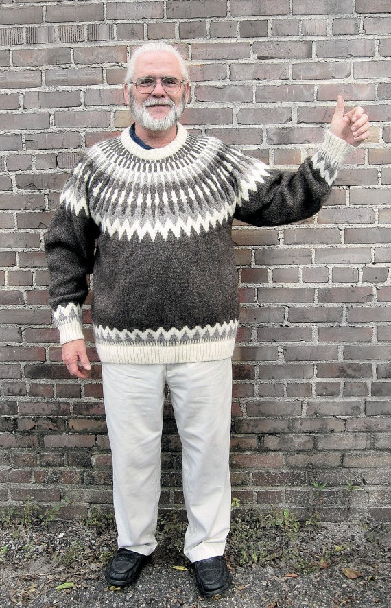 Handknit sweater for men Iceland sweater mens sweater by Iryna, $195.00