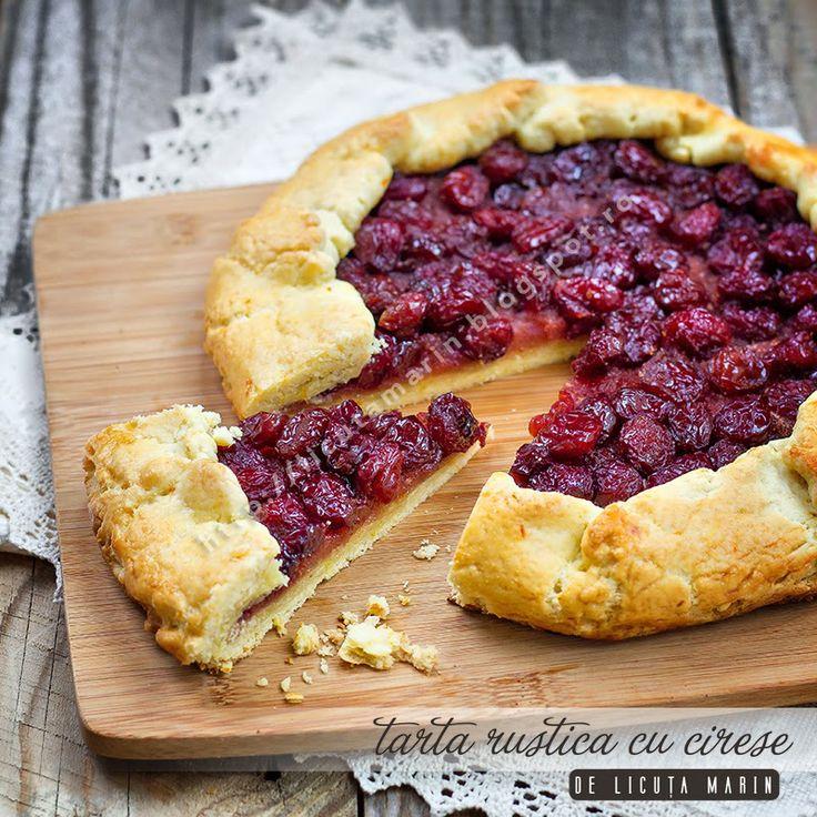 Rustic cherry tart - gorgeous!  #CherryTart #Berries