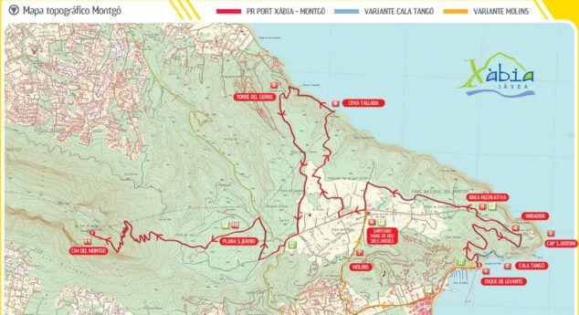 Senderismo En El Montgó Rutas Fáciles Y Difíciles En Jávea Mapa Topografico Mapas Topografico