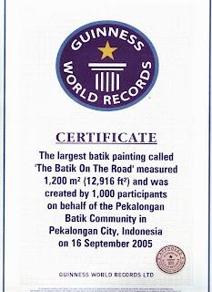 The Batik On The Road, Largest Batik , 16 Sep 2005, Pekalongan Batik Community @TIWIBIC