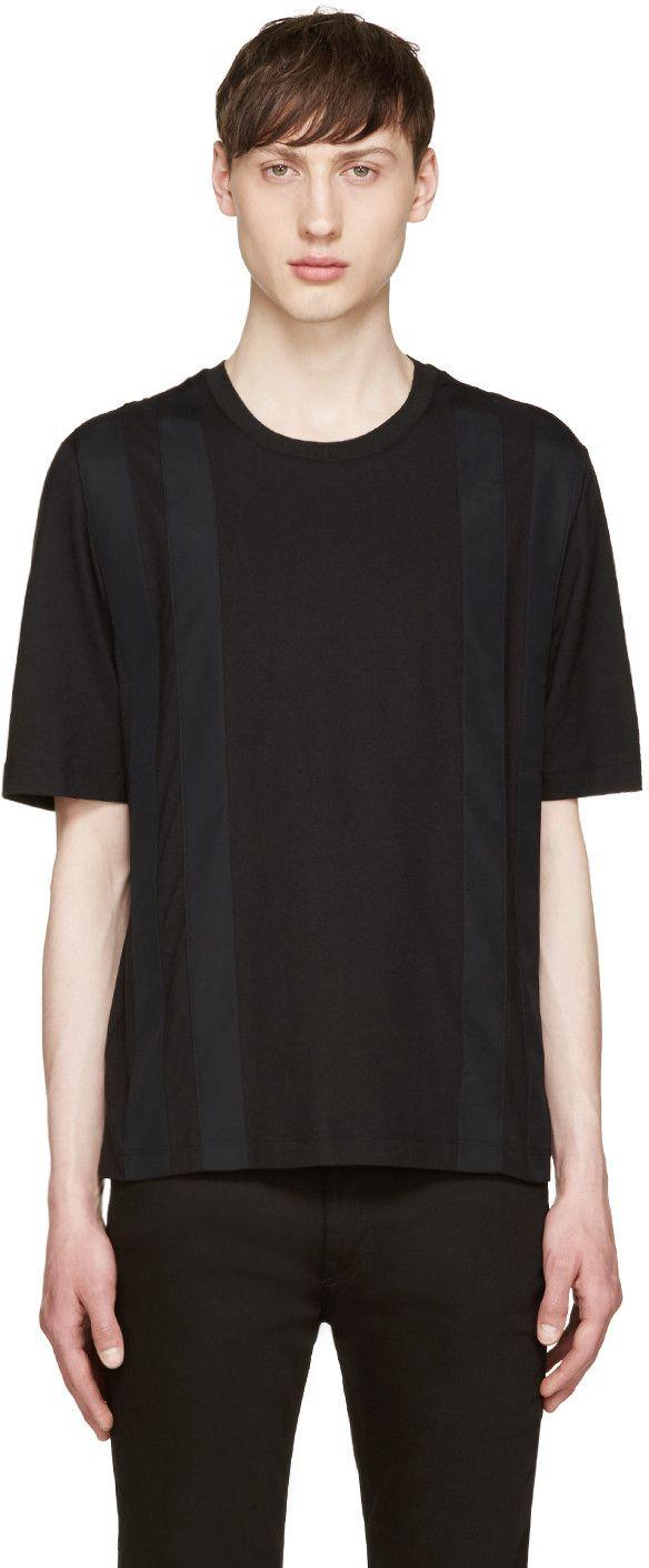 GIULIANO FUJIWARA BLACK STRIPED T-SHIRT. #giulianofujiwara #cloth #t-shirt