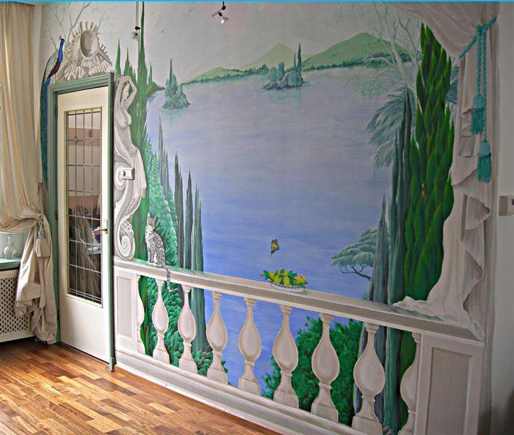 Muurschilderen, Wandmalerei, Peinture  mural, Wall Painting, by Marjan van Doremalen