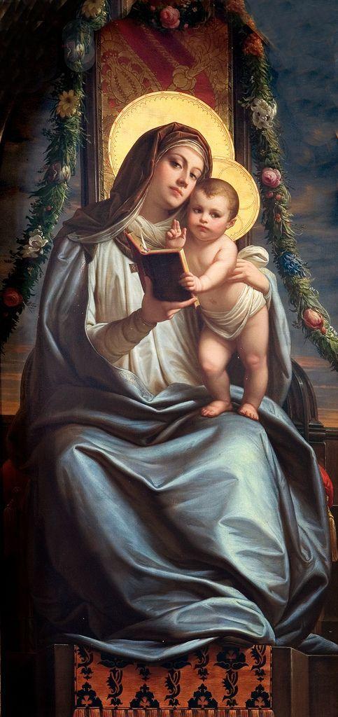 "coriesu: ""Madonna with Child St. Leonard's Church Altarpiece ––ca. 1854 Frankfurt, Germany Unknown artist """