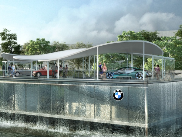 BMW olympic pavilion, london by Serie architects |