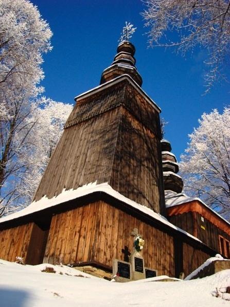SLOVAKIA - Wooden church, North-East Slovakia