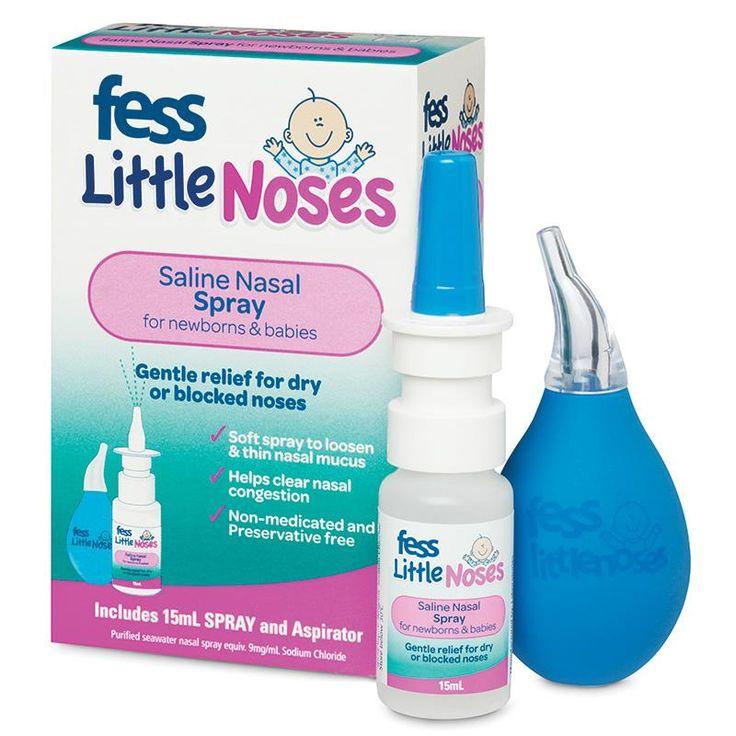 Fess Little Noses Saline Nose Spray + Aspirator 15ml - Chemist Warehouse