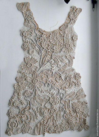 Платья ручной работы. Платье для Ирины ирландское кружево в винтажном стиле…